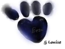 beau's pawprint & Louise